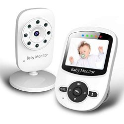 Baby Monitor, Video Baby Monitor with Digital Color Camera, Wireless View Video, Two-Way Talk, L ...