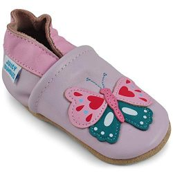 Beautiful Soft Leather Baby Shoes – Crib Shoes with Suede Soles