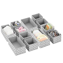 mDesign Soft Fabric Dresser Drawer and Closet Storage Organizer Set for Child/Kids Room, Nursery ...