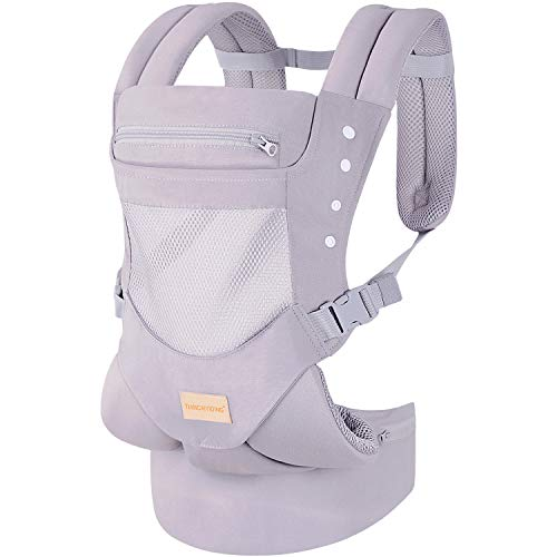Infant Toddler Baby Carrier Wrap Backpack Front and Back, Hip Seat & Hood, Soft & Breath ...