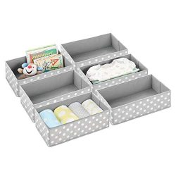 mDesign Soft Fabric Dresser Drawer and Closet Storage Organizer for Child/Kids Room or Nursery & ...