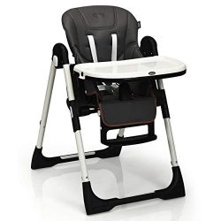 INFANS High Chair for Babies & Toddlers, Foldable Highchair with Multiple Adjustable Backres ...