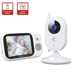 Victure Baby Monitor,Video Baby Monitor with Camera and 2 Way Audio,Infrared Night Vision 3.2 ...