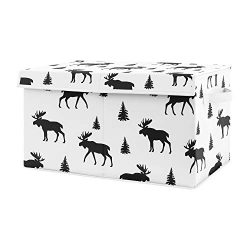 Sweet Jojo Designs Black and White Woodland Moose Boy Baby Nursery or Kids Room Small Fabric Toy ...