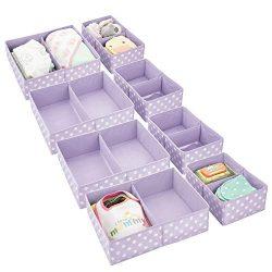 mDesign Soft Fabric Dresser Drawer and Closet Storage Organizer for Child/Kids Room, Nursery  ...