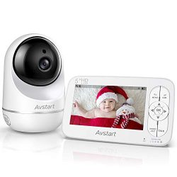 Baby Monitor – AVSTART Video Baby Monitor with Camera and Audio, 5″ HD LCD Display,  ...