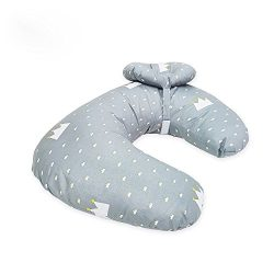 Baby Breastfeeding Nursing Pillow and Positioner,Machine Washable U Shape Nursing and Infant Sup ...