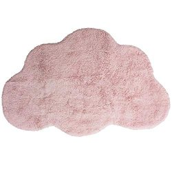 Habudda Cloud Shape Area Rugs for Kids Room Warm Soft 100% Cotton Luxury Plush Handmade Knitted  ...
