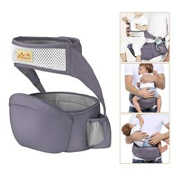 Viedouce Hip Seat Carrier Waist Stool with Safety Belt Protection for Baby Ergonomic Carriers, D ...