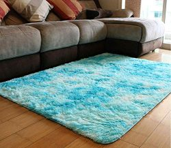 PAGISOFE Fuzzy Abstract Area Rugs for Bedroom Living Room Fluffy Shag Fur Rug for Kids Nursery D ...