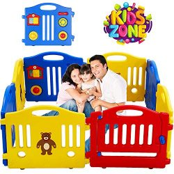8 Panels Baby Playpen for Babies Baby Play Yards Kids Activity Centre Home Indoor Outdoor Fence  ...