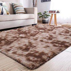 YJ.GWL Soft Shaggy Area Rugs for Girls Room Bedroom Non-Slip Kids Carpet Baby Nursery Decor Fluf ...
