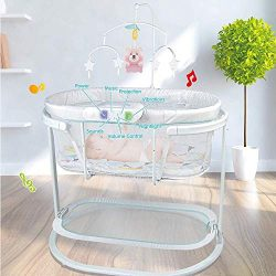 COLOR TREE Baby Cradle for Newborn Soothing Motions Bassinet