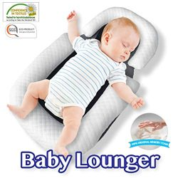 COMFYT Baby Lounger Portable Bassinet Baby Pillow Travel Crib Baby Pillow Baby Nest Co Sleeping  ...