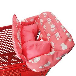 Soft Pillow Attached 2-in-1 Shopping Cart and High Chair Cover for Baby~Padded~Fold'n Roll ...