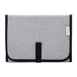 Baby Portable Changing Pad, Diaper Bag, Travel Mat Station Solid Grey Compact