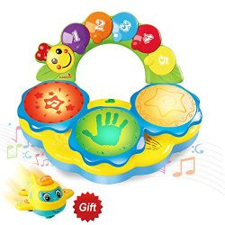 HOMOFY Baby Toys 6 to 12 Months Portable Musical Drum Piano Musical Instrument Early Education M ...