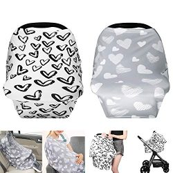 TUTUWEN [2Packs] Nursing Cover – Breastfeeding Cover Super Soft Cotton Multi Use for Baby  ...