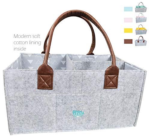Baby Diaper Caddy Organizer – Baby Shower Gift Basket for Boys Girls | Portable Travel Car ...