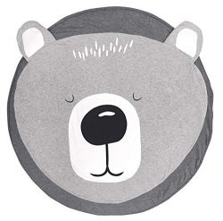 Satbuy Cotton Round Bear Nursery Rug Baby Floor Playmats Crawling Mat Game Blanket for Kids̵ ...