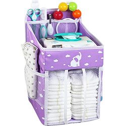 Hanging Diaper Caddy – Diaper Organizer for Crib – Storage for Baby Nursery –  ...