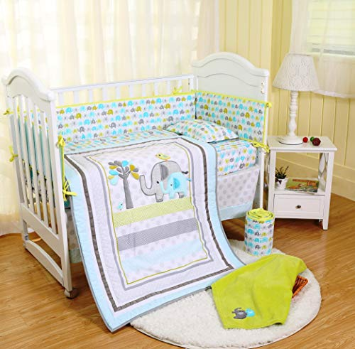 Spring Baby Crib Bedding Set 8 Piece Nursery Crib Bedding Set for Baby Boys and Girls, Including ...