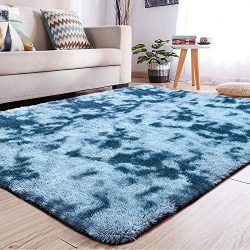 YJ.GWL Soft Shaggy Area Rugs for Girls Room Bedroom Non-Slip Kids Carpet Baby Nursery Decor Fluf ...