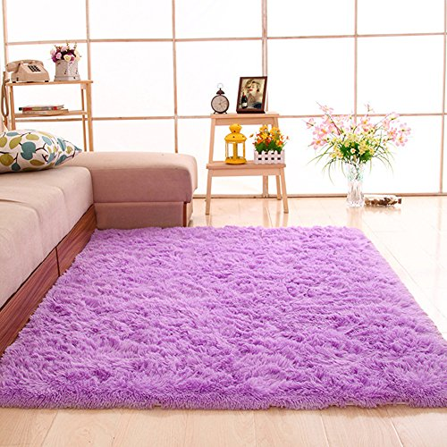 gdmgdr Ultra Soft and Fluffy Nursery Rugs 4cm High Pile Area Rugs for Bedroom and Living Room 4& ...