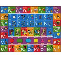 "Bilingual Kids Rug – Educational and Fun Nursery Rug | Small 5′ 0"" x 3′  ..."