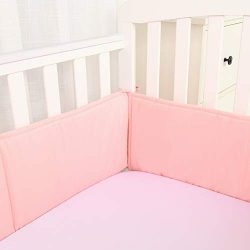 Baby Safe Crib Bumper Pads for Standard Cribs Machine Washable Padded Crib Liner Thick Padding f ...