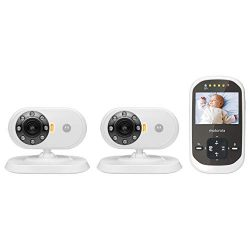 Motorola MBP25-2 Wireless 2.4 GHz Video Baby Monitor with 2.4-Inch Color LCD Screen and Two Came ...
