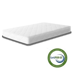 Crib Mattress and Toddler Bed Mattress, Dual Sided Sleep System, Breathable Premium Baby Mattres ...
