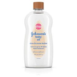 Johnson's Baby Oil, Mineral Oil Enriched With Shea & Cocoa Butter to Prevent Moisture  ...