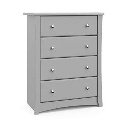 Storkcraft Crescent 4 Drawer Chest – Pebble Gray