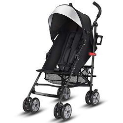 BABY JOY Lightweight Stroller, Aluminum Baby Umbrella Convenience Stroller, Travel Foldable Desi ...