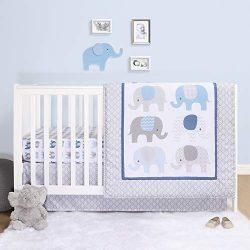 The Peanutshell Elephant Crib Bedding Sets for Boys   3 Piece Nursery Set   Crib Comforter, Fitt ...