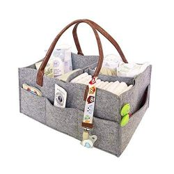 melupa Baby Diaper Caddy Organizer – Large Baby Organizers and Storage for Nursery – ...