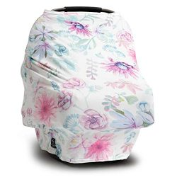 Moody Park – (Chloe) Floral Nursing Cover Carseat Canopy, Carseat Covers for Babies