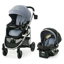 Graco Modes Pramette Travel System | Includes Baby Stroller with True Bassinet Mode, Reversible  ...