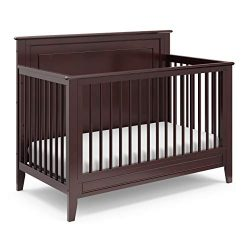 Storkcraft Solstice 4-in-1 Convertible Crib (Espresso) – Easily Converts into Toddler Bed, ...