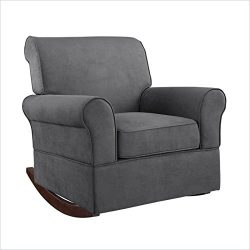 Dorel Living Baby Relax Mackenzie Nursery Rocking Chair in Gray