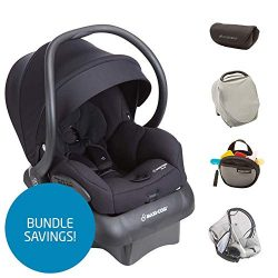 Maxi-Cosi Mico 30 Infant Car Seat w/Base & Accessories, Night Black