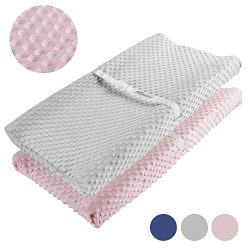 Changing Pad Cover, AceMommy Ultra Soft Minky Dots Plush Changing Table Covers Breathable Changi ...