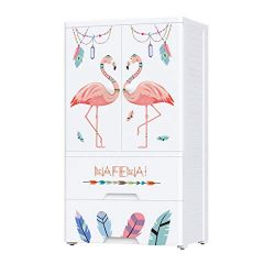 Nafenai Plastic Wardrobe Closet with Door and Drawers,Small Armoire for Kids Clothes/Toys with H ...