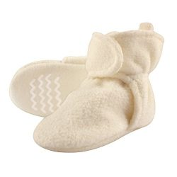 Hudson Baby Unisex Baby Cozy Fleece Booties, Cream, 0-6 Months