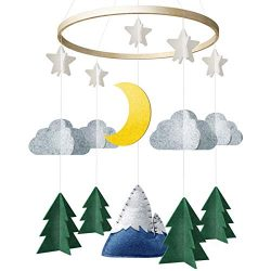 Baby Crib Mobile by Giftsfarm, Starry Woodland Night Nursery Decoration, Crib Mobile for Boys an ...