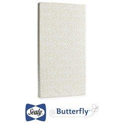 Sealy Butterfly Waterproof Ultra Firm Standard Crib & Toddler Mattress, 52″ x 28″