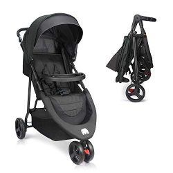 Baby Stroller, Meinkind Foldable Jogger Stroller Lightweight Portable Baby Stroller 3-Wheels Run ...