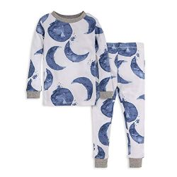 Burt's Bees Baby Unisex Baby Pajamas, Tee and Pant 2-Piece PJ Set, 100% Organic Cotton, In ...