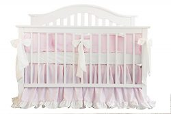 Blush Coral Pink Ruffle Crib Bedding Set Baby Girl Bedding Blanket Nursery Crib Skirt Set Baby G ...